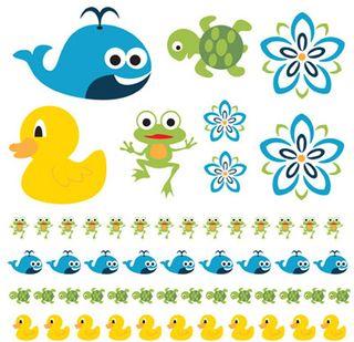 5 ducks rub ons