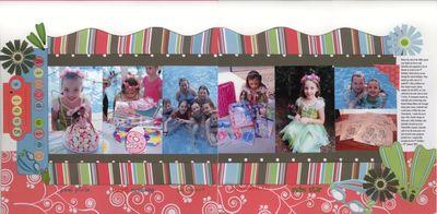 Gabi's Swim party- double layout