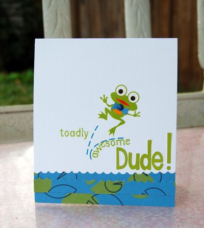 Toadly awesome dude card