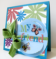 """My Friend"" Card by Laura Davis using The Ants Go Marching Collection from Piggy Tales"