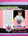 """I'm Yours"" Layout using Mary, Mary Quite Contrary Collection from Piggy Tales"