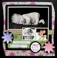 """Watch Me Grow"" Layout using Mary, Mary Quite Contrary Collection from Piggy Tales"