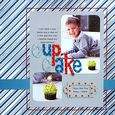 """Cup Cake"" Layout using Yankee Doodle Collection from Piggy Tales"