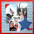 """Family Fun"" Layout using Yankee Doodle Collection from Piggy Tales"