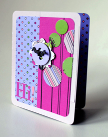 """Hi"" Card using Mary, Mary Quite Contrary Collection from Piggy Tales"