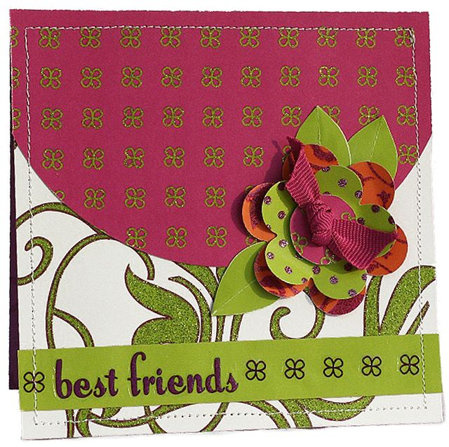 """""""Best Friends"""" Card using Beauty and the Beast Collection from Piggy Tales"""