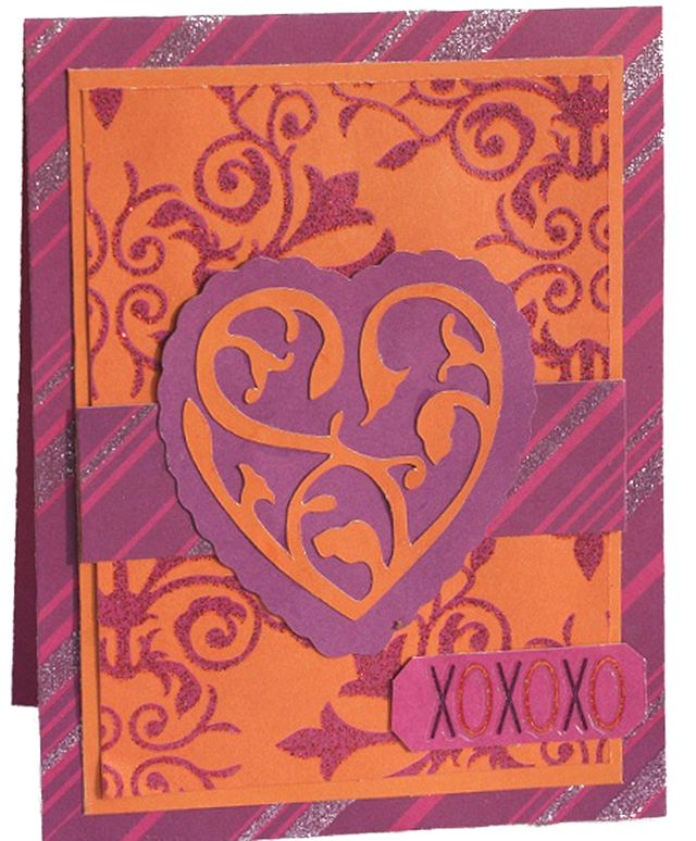 """""""XOXO"""" Card using Beauty and the Beast Collection from Piggy Tales"""