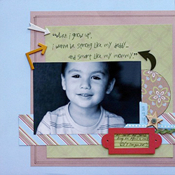 """When I Grow Up"" Layout using Jack and Jill Collection from Piggy Tales"