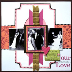 """Our Love"" Layout using Beauty and the Beast Collection from Piggy Tales"