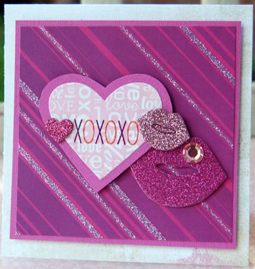 """XOXO"" Card using Beauty and the Beast Collection from Piggy Tales"