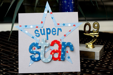 """Super Star"" Card using Yankee Doodle Collection from Piggy Tales"