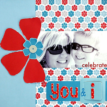 """You and I"" Layout using Yankee Doodle Collection from Piggy Tales"