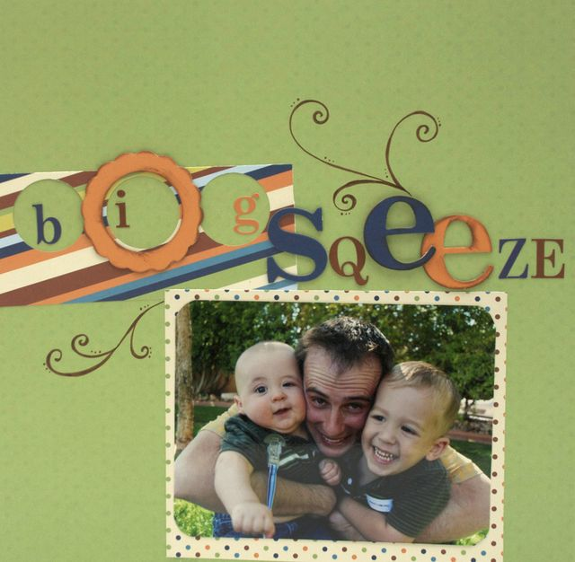 """Big Squeeze"" Layout using Tortoise and the Hare Collection from Piggy Tales"