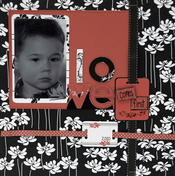 """Love Comes First"" Layout using Mulan Collection from Piggy Tales"