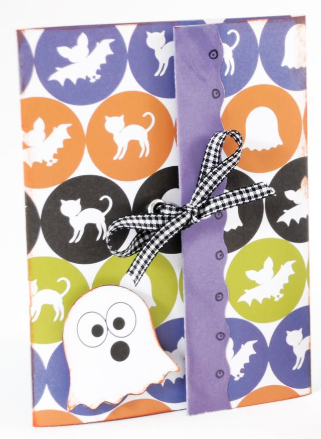 Ghost Card using The Bat and the Weasels Collection from Piggy Tales