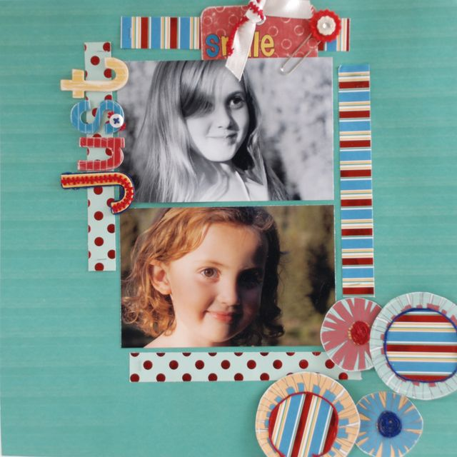 """""""Just Smile"""" Layout using SImple Simon Collection from Piggy Tales"""
