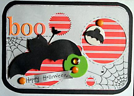 """Boo"" Card using Yankee Doodle Collection from Piggy Tales"
