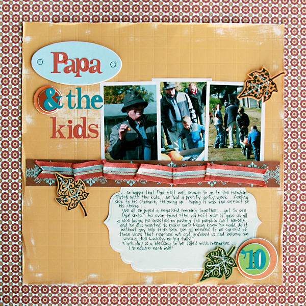 """Papa & the Kids"" Layout by Renee Moris-Dezember using Goldilocks and the 3 Bears from Piggy Tales"