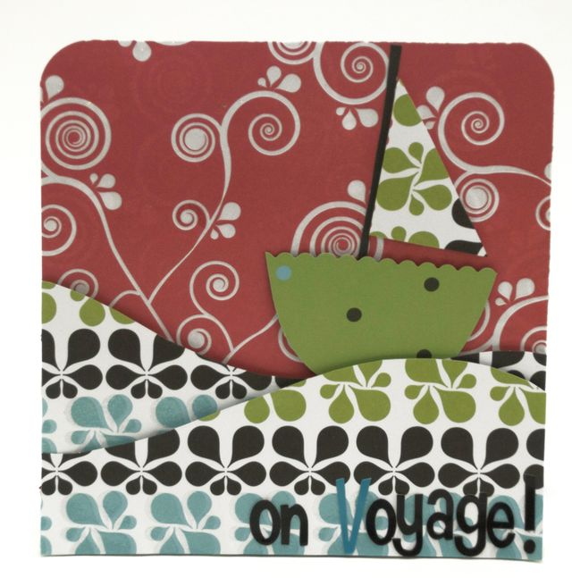 """""""Bon Voyage"""" Card using Row, Row, Row Your Boat Collection from Piggy Tales"""