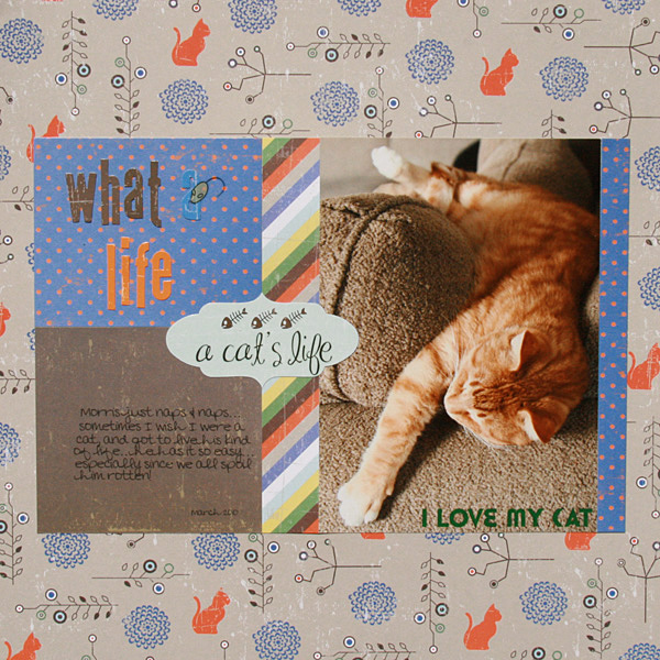 """""""What a Life"""" by Renee Morris-Dezember using Georgie Porgie Collection from Piggy Tales"""